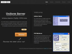 uniform server home page