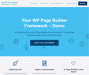 wp page builder framework preview