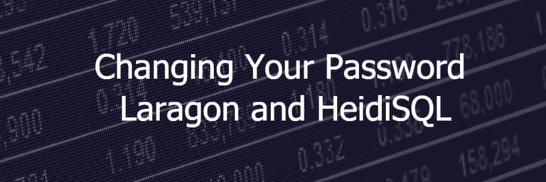 Changing Your WordPress Password – Laragon and HeidiSQL