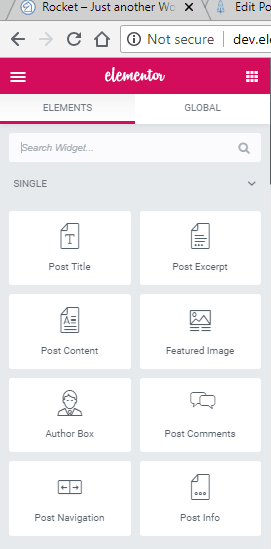 elementor post fields widgets