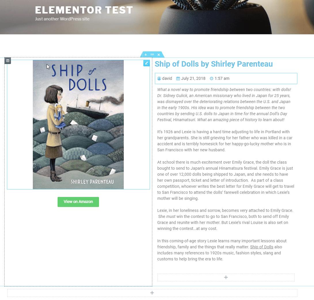 elementor single template
