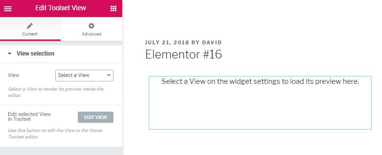 toolset views widget interface