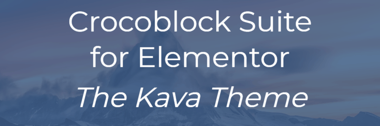 Crocoblock Suite for Elementor – Kava Theme
