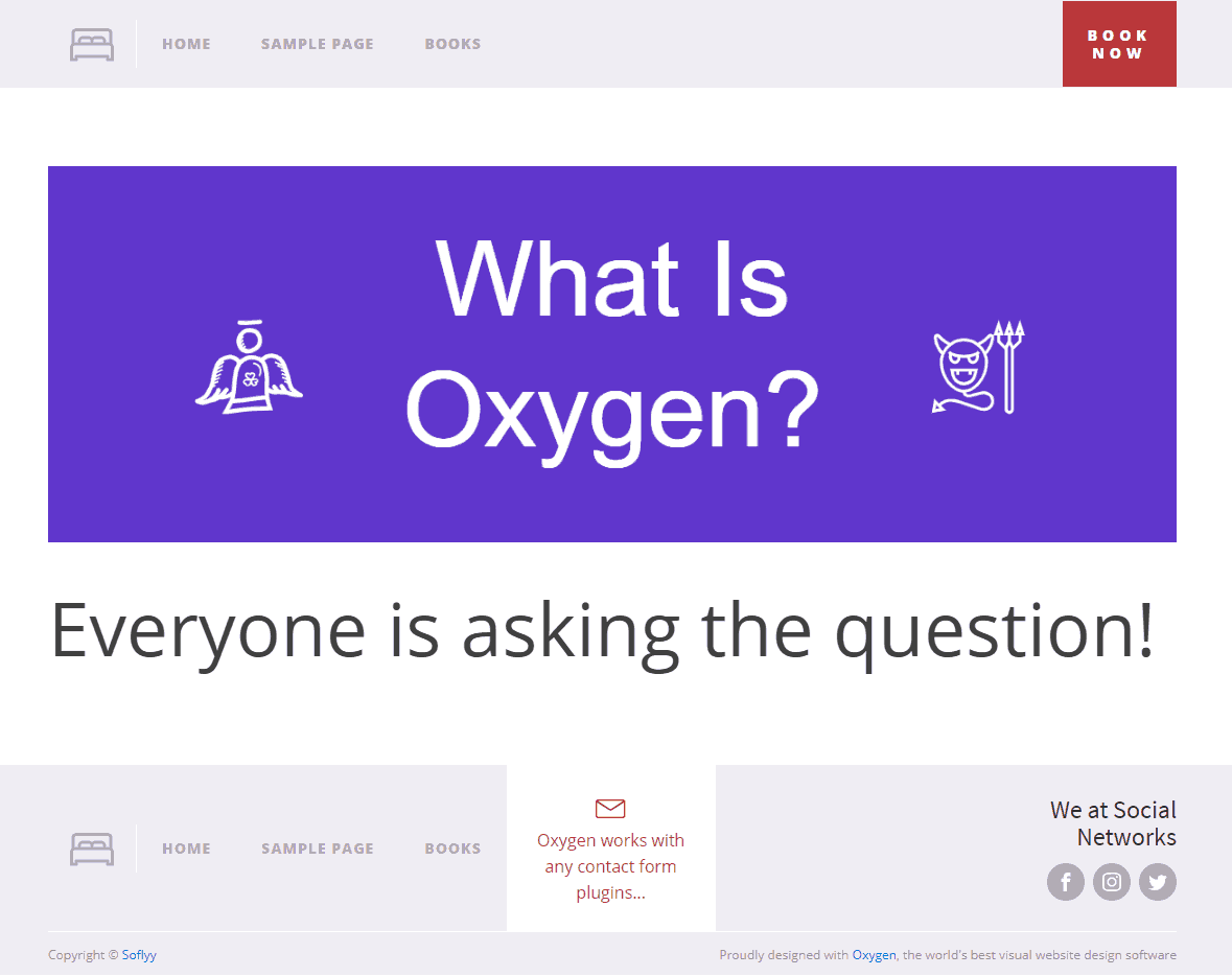 page made with oxygen