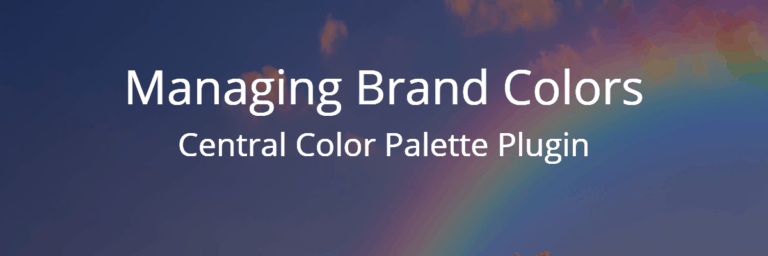 Managing Brand Colors – Central Color Palette Plugin