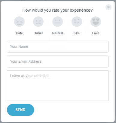 userback as contact form