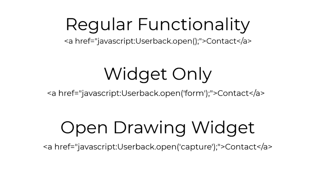userback javascript options
