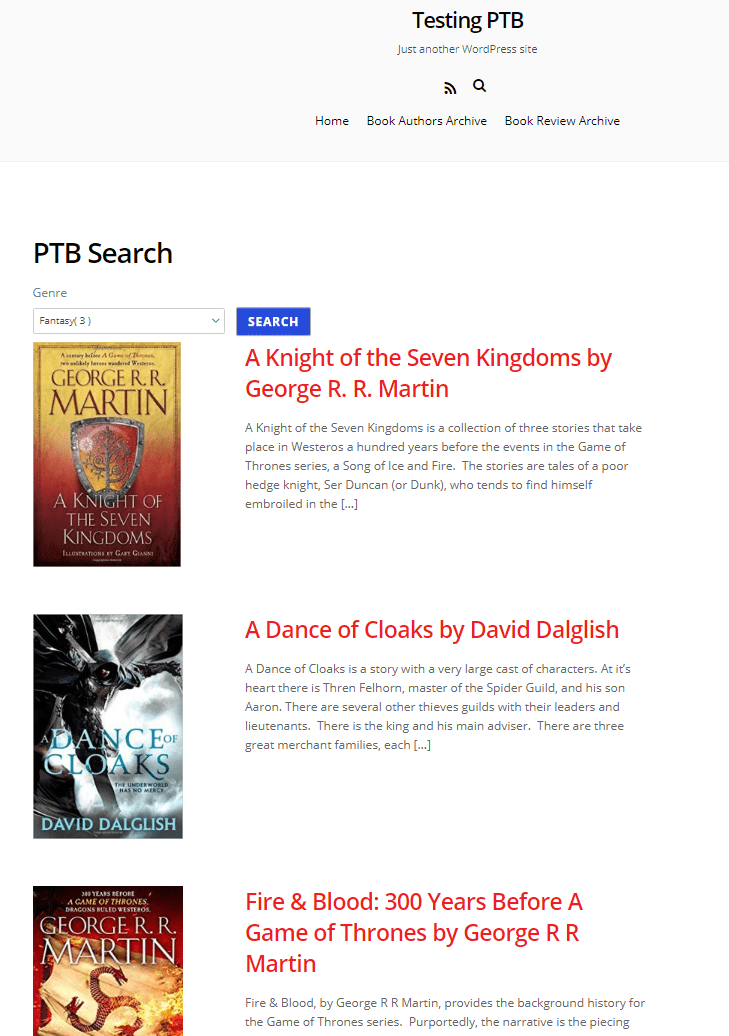 ptb search page example