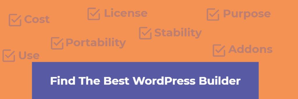 find the best wordpress builder