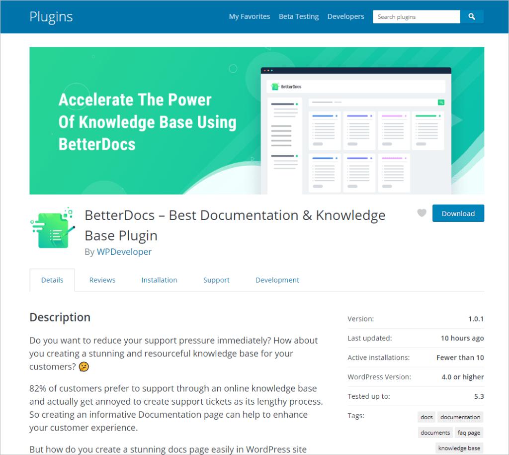 BetterDocs on WordPress.og