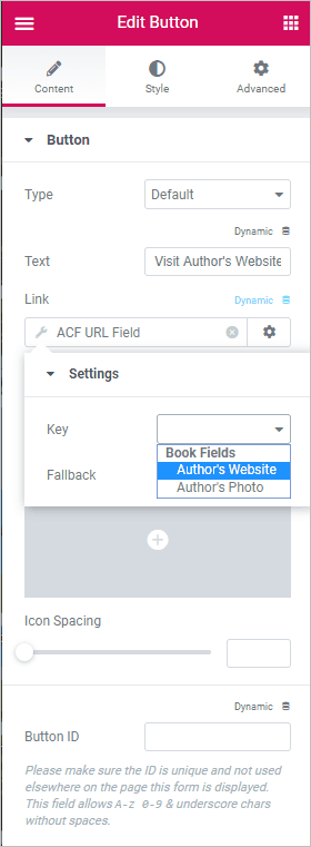 acf url field key