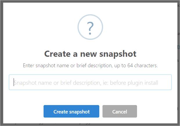 Create Snapshot Dialog