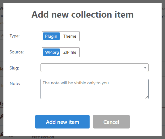 Wp Reset Pro Collections Add Item