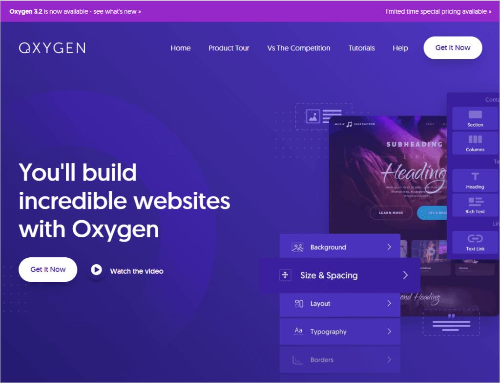 Oxygen Website