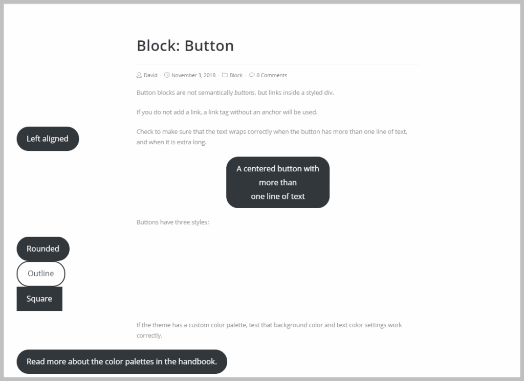 Oceanwp Button Block