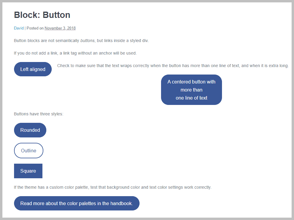 Page Builder Framework Button Block