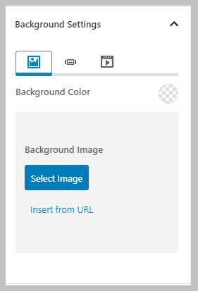 Background Color Or Image Settings