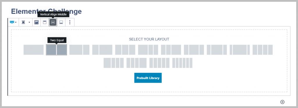 Challenge Step 1 - Add Row Layout Block