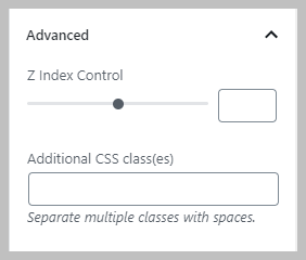 Column Advanced Settings