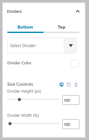 Row Divider Settings