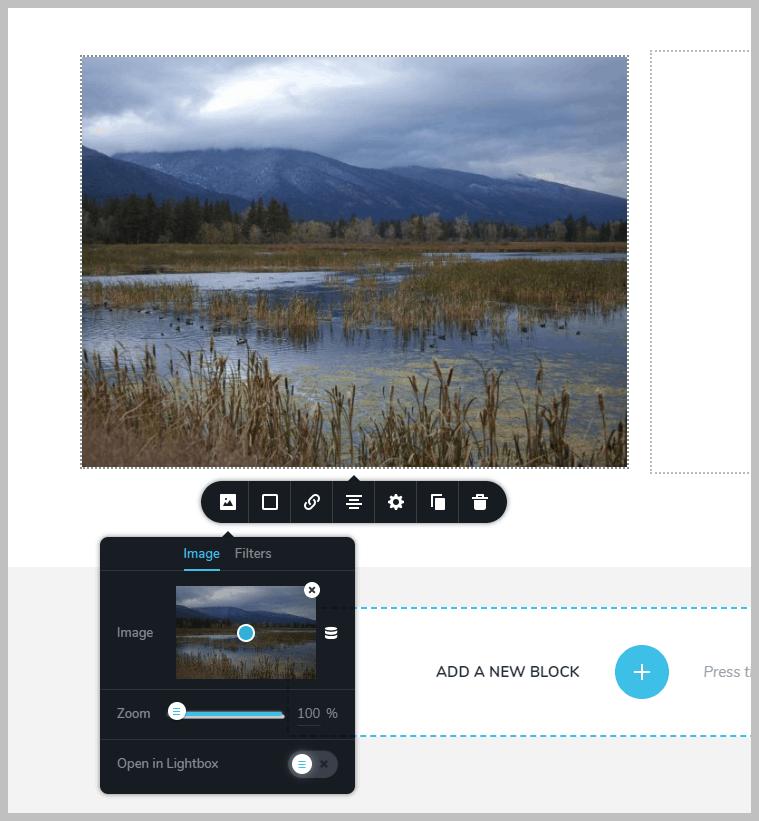 Image Center Focus Option