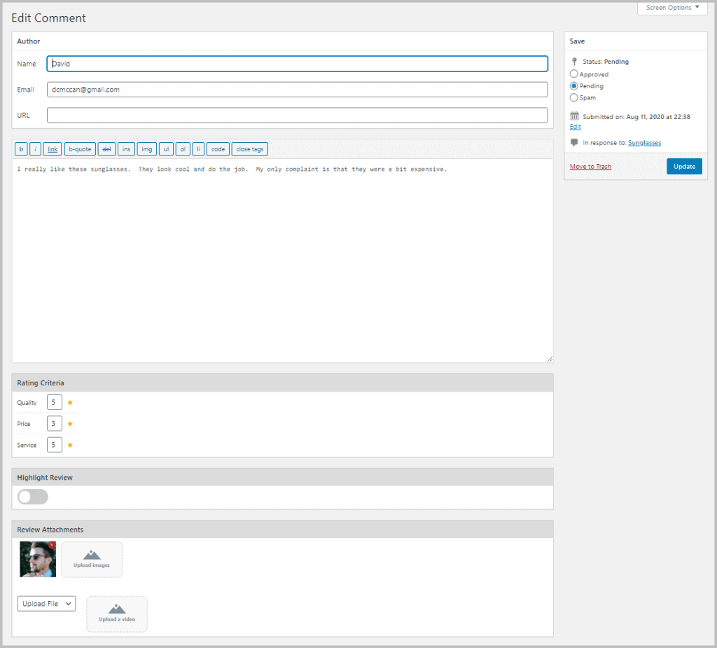 Reviewx Admin Approval Ui