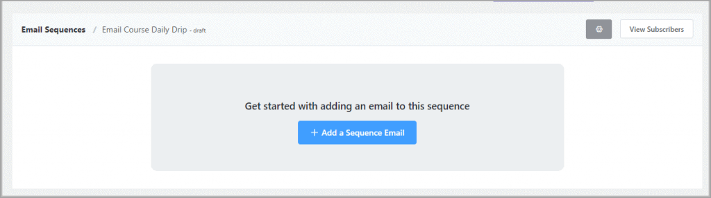 Add A Sequence Email