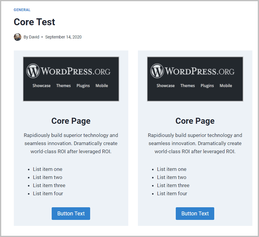 Core Test On Front End