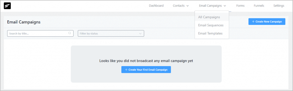 Fluentcrm Campaigns View