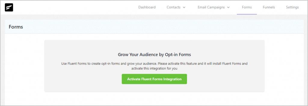 Fluentcrm Forms View