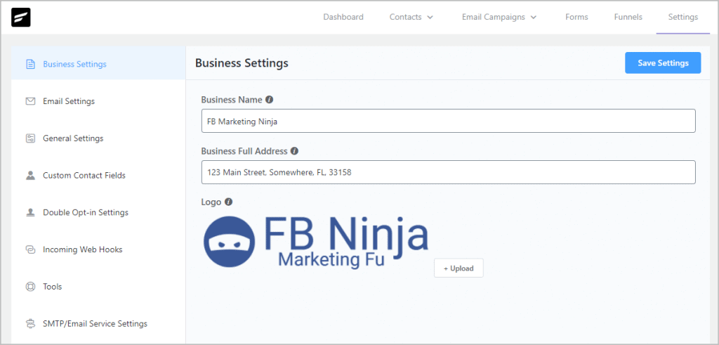 Fluentcrm Settings Business