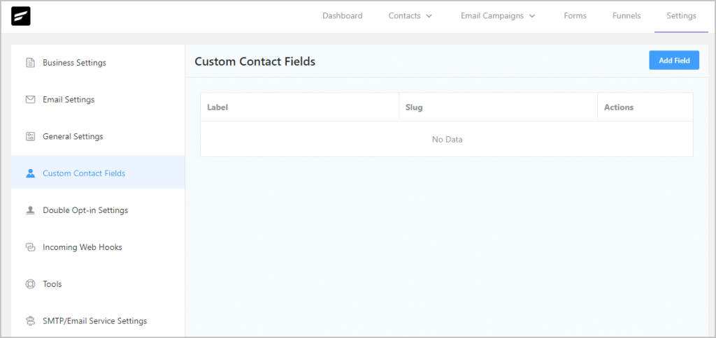 Fluentcrm Settings Custom Contact