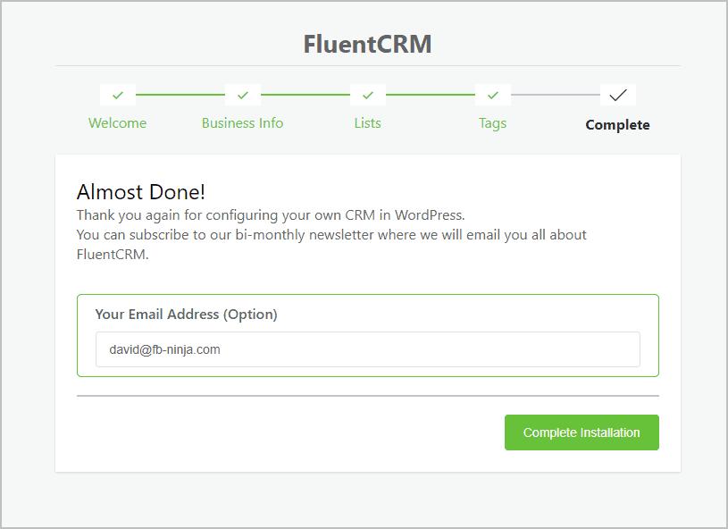 Fluentcrm Wizard Step 5