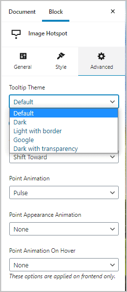 Tooltip Theme Options