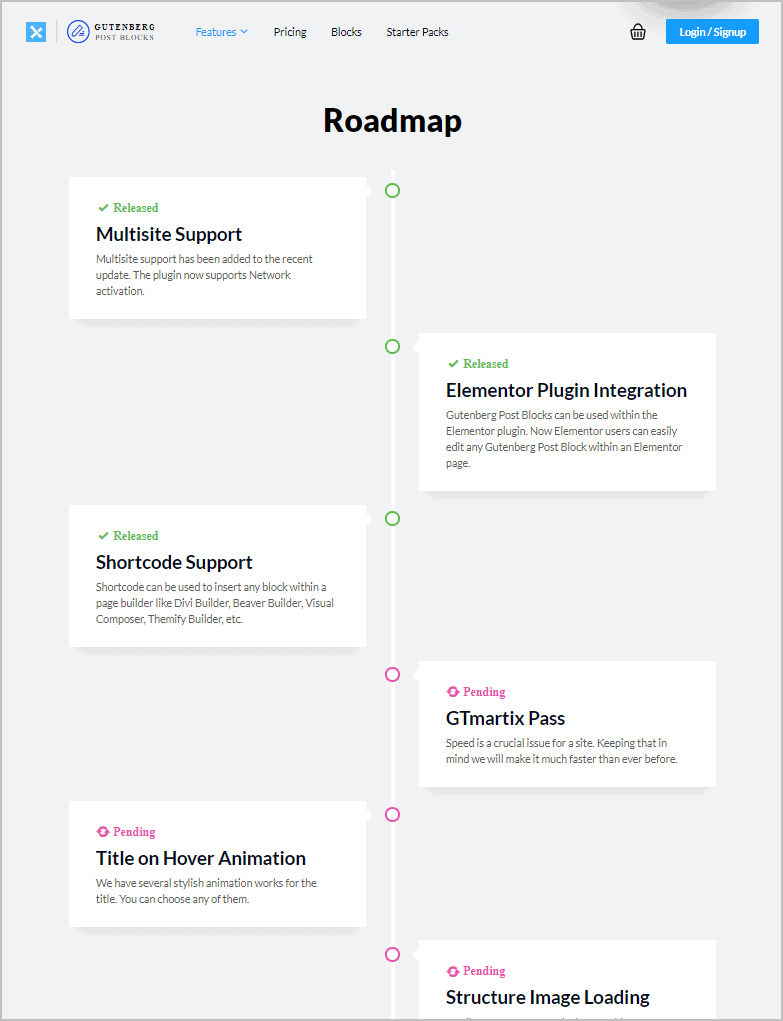 Gpb Roadmap