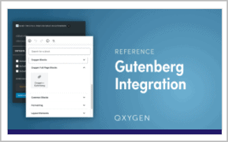 Oxygen Gutenberg Integration