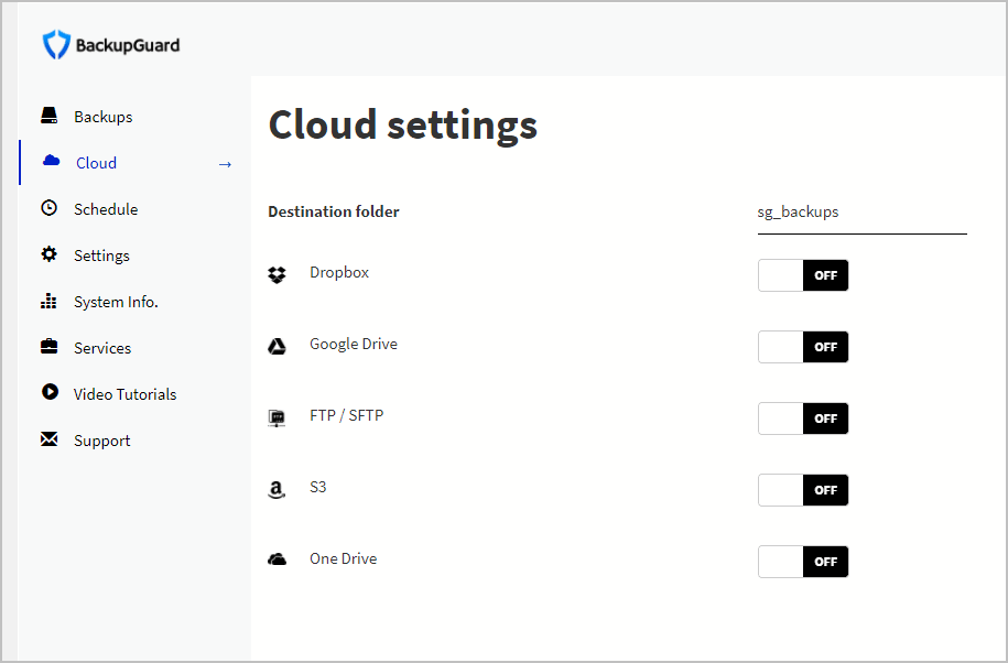 more locations available in cloud settings