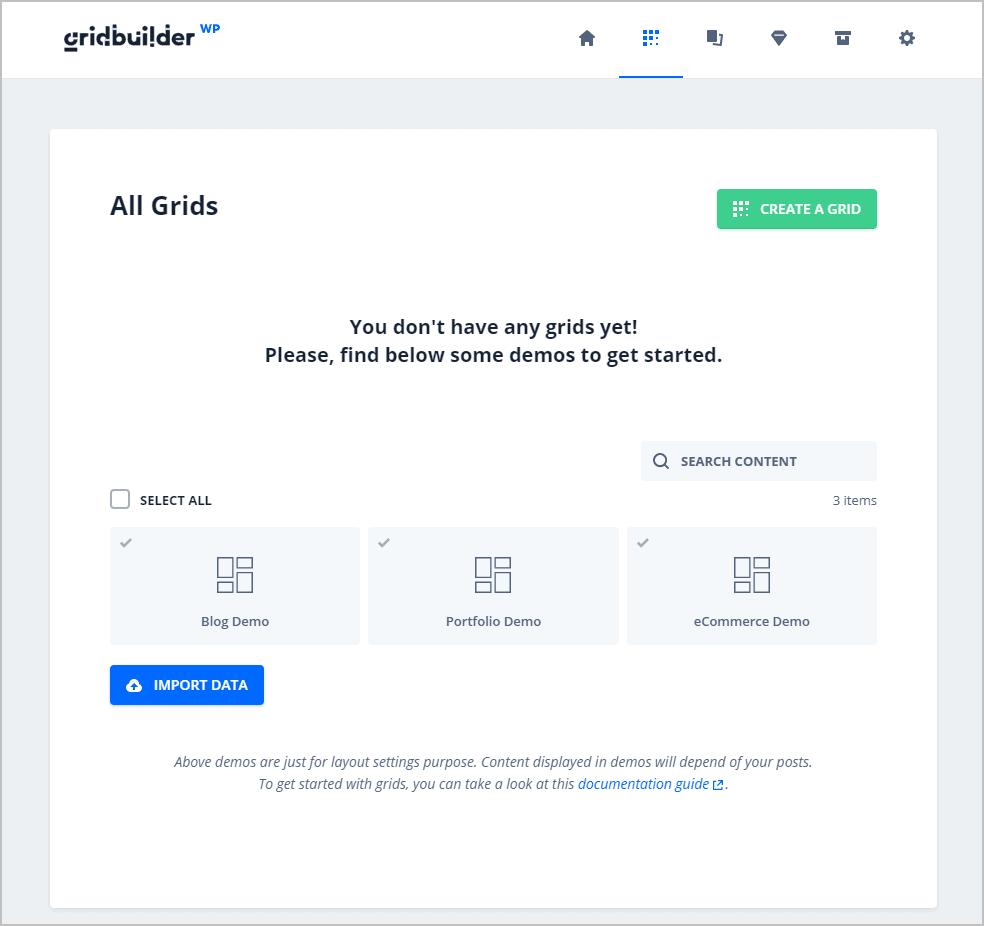 gridbuilderwp grids screen