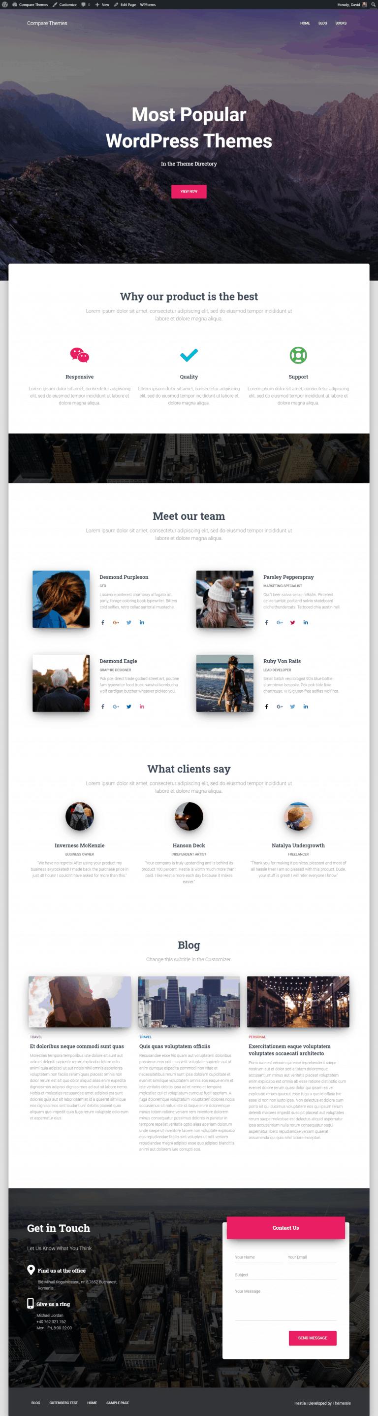 hestia home page